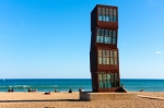 Image of Barcelona. Barcelona beach, Platja de Sant Sebastia,  'Tribute to Barceloneta' sculpture