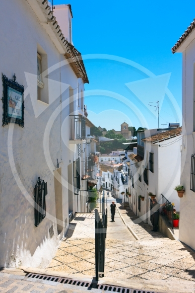 Mijas in Spain, Calle del Pillar street