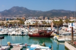Image of marina. Puerto Marina in Benalmadena, Spain