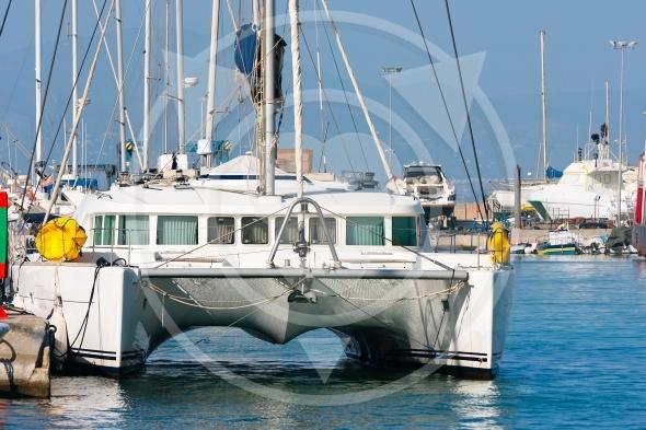 Luxurious sailing catamaran