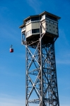Image of tower. Port Cable Car and tower in Barcelona