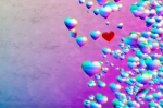 Image of love. Rainbow Hearts grunge background