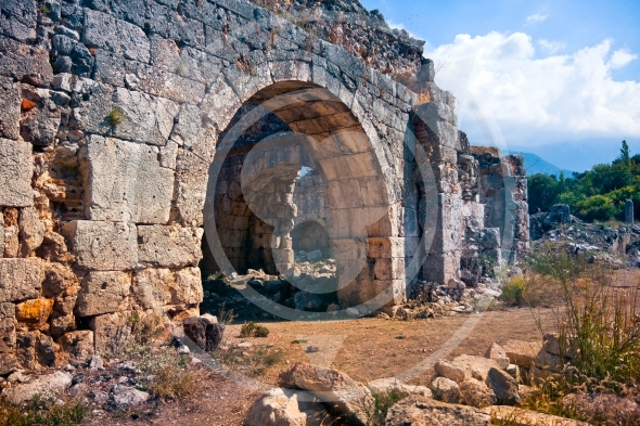 Ancient ruins of Tlos City / Turkey