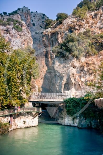 Saklikent Canyon entrance and Xanthos River / Turkey
