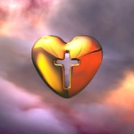 Image of heart. Heart of God, Holy Cross