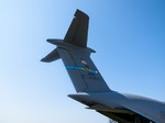 Image of tail. Tail of Lockheed C-5 Galaxy