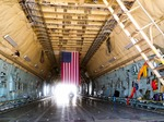 Image of cargo. Lockheed C-5 Galaxy, inside  the cargo hold