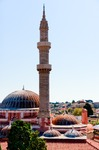 Image of islam. Minaret of Sultan Suleiman mosque, Rhodes, Greece