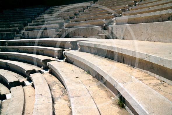 Rhodes Ancient Theatre auditorium seating