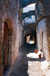 Image of passage. Rhodes, Greece, Street view