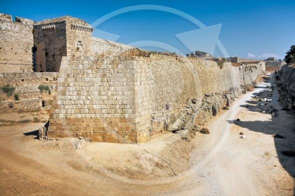 Ancient walls –  Rhodes Island