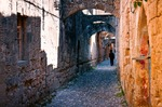 Image of ancient. Streets of Rhodes Island, Greece