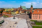 Image of square. Warsaw City center, Castle Square and Sigismund's Column