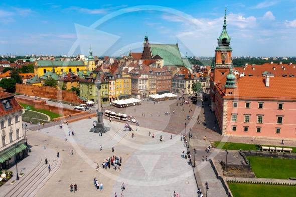 Warsaw City center, Castle Square and Sigismund's Column