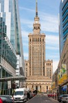Image of palace. Warsaw City, Palace of Culture and Science, Congress Hall