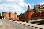 Image of fortress. Barbican fortress in Warsaw. Famous landmark