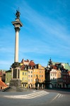 Image of sigismund. Warsaw – Castle Square and Sigismund's Column (Kolumna Zygmunta) / Poland