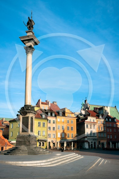Warsaw – Castle Square and Sigismund's Column (Kolumna Zygmunta) / Poland