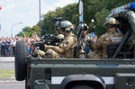 Image of police. Polish Military Police, Polish Armed Forces Day parade 2014