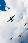 Image of . C-130 Hercules and C-295 M over the sky