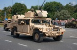 Image of humvee. Humvee HMMWV light armored vehicle