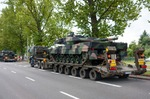 Image of tank. Leopard 2 tanks transport convoy