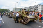 Image of tank. Vintage Tanks 7TP and Renault FT. Armed Forces Day parade