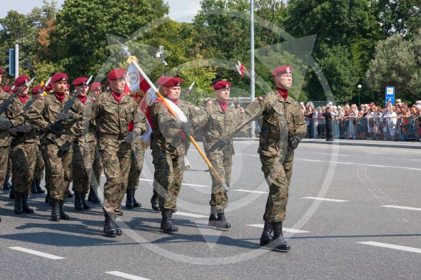 Polish Airborne Brigade during the Polish Armed Forces Day 2014