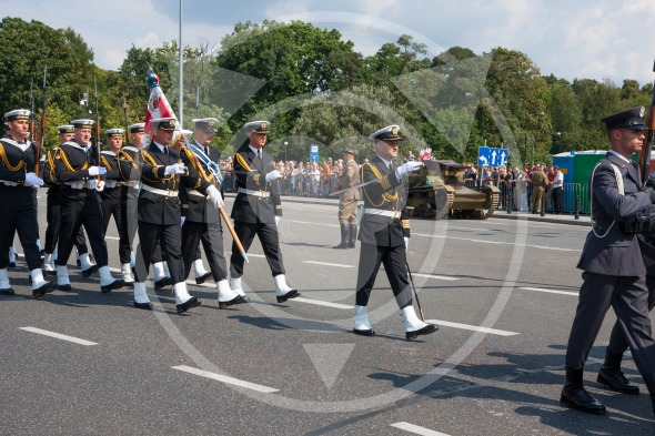 Polish Navy forces at the Polish Armed Forces Day