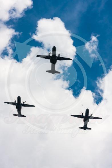 C-295 M CASA over the sky