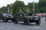 Image of humvee. Drones on Humvee HMMWV, Polish Armed Forces Day 2014