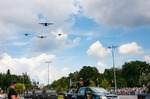 Image of parade. Polish Armed Forces Day WARSAW, POLAND – AUGUST 15, 2014