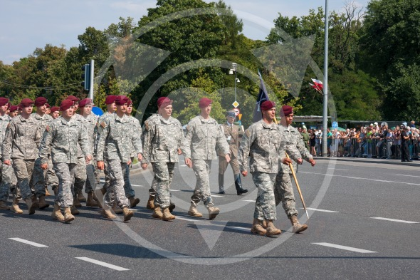 American subdivision forces parade