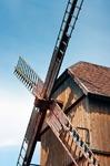 Image of mill. Wooden  windmill in Tykocin, Podlachia, Poland