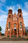Image of neogothic. Neogothic Church in Plonka Koscielna