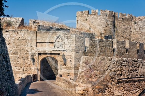 Ancient city walls of  Rhodes Island