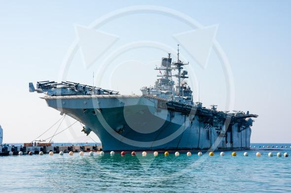 Turkish Class L-61 Assault ship, aircraft carrier. Landing Helicopter Dock