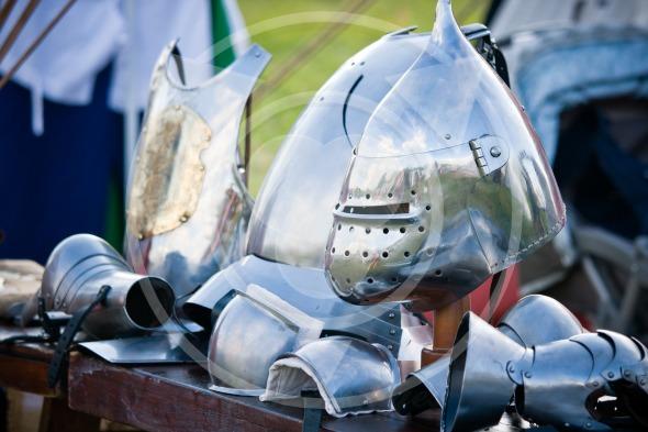 Medieval knight's helmet
