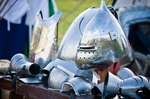 Image of helmet. Medieval knight's helmet
