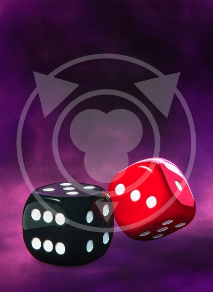 Dice, black and red – game of chance