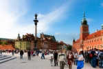 Image of Zygmunt. Warsaw, Castle Square full of tourists