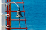 Image of bell. Bell on sailing ship