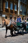 Image of carriage. Horse Drawn Carriages in the Old Town, Warsaw