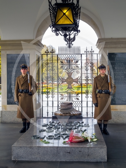 Guard post at the Tomb of the Unknown Soldier in Warsaw