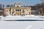 Image of neoclassical. Palace on the Water in Warsaw, Lazienki Park