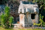 Image of tomb. Lycian Tombs in Fethiye / Turkey