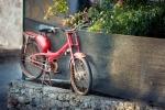 Image of biking. Vintage motorbike