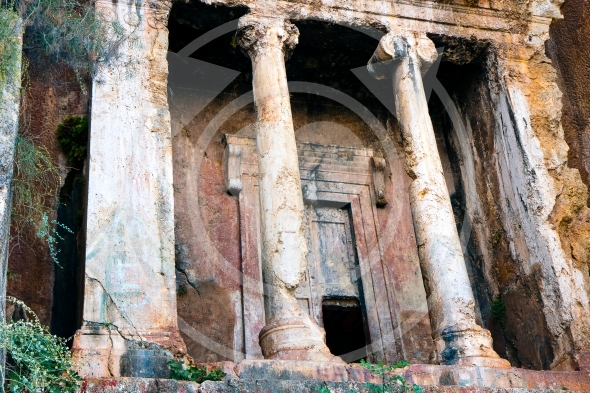 Tomb of Amyntas, Lycian tombs in Fethiye, Turkey