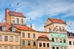 Image of tenement. Old Town architecture of Warsaw City