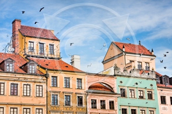 Old Town architecture of Warsaw City